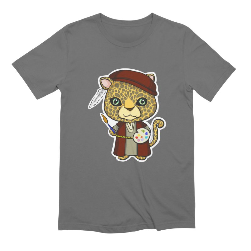 Leopardo da Vinci Men's T-Shirt by Dino & Panda Artist Shop