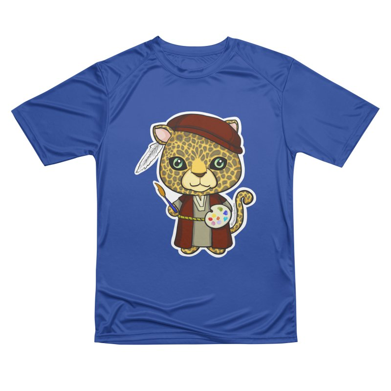 Leopardo da Vinci Men's Performance T-Shirt by Dino & Panda Inc Artist Shop