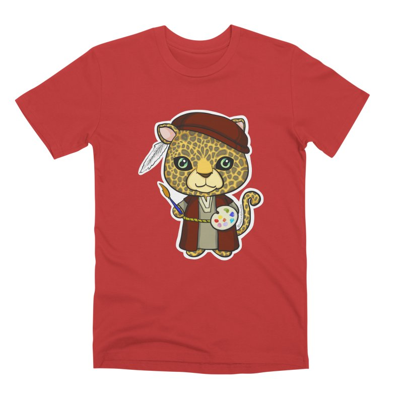 Leopardo da Vinci Men's Premium T-Shirt by Dino & Panda Inc Artist Shop