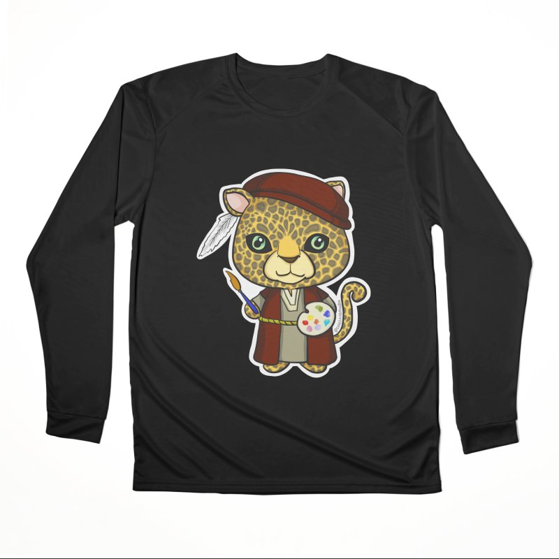 Leopardo da Vinci Women's Performance Unisex Longsleeve T-Shirt by Dino & Panda Inc Artist Shop