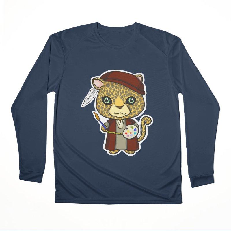 Leopardo da Vinci Men's Performance Longsleeve T-Shirt by Dino & Panda Inc Artist Shop