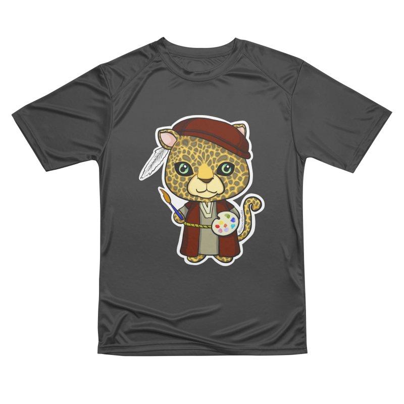 Leopardo da Vinci Women's Performance Unisex T-Shirt by Dino & Panda Inc Artist Shop