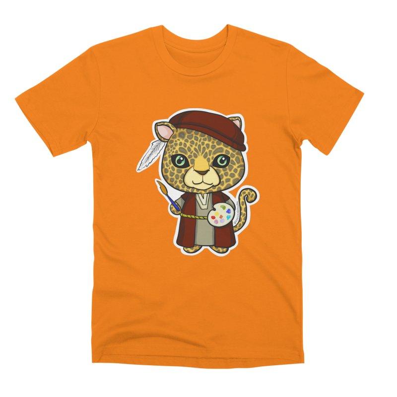 Leopardo da Vinci Men's T-Shirt by Dino & Panda Inc Artist Shop
