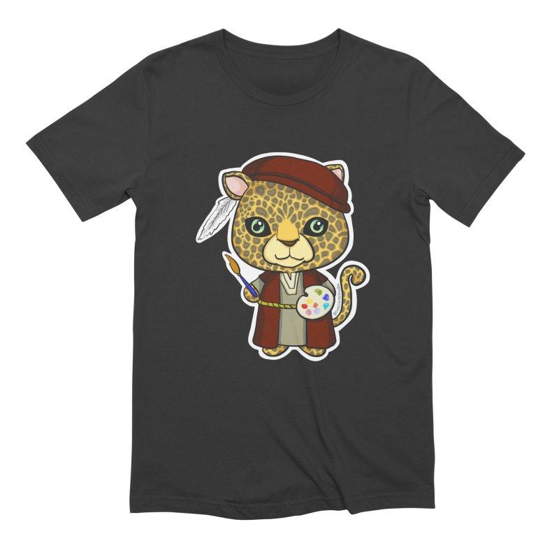 Leopardo da Vinci Men's Extra Soft T-Shirt by Dino & Panda Inc Artist Shop