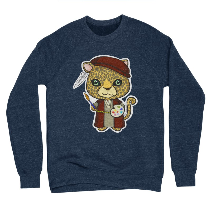 Leopardo da Vinci Men's Sponge Fleece Sweatshirt by Dino & Panda Inc Artist Shop