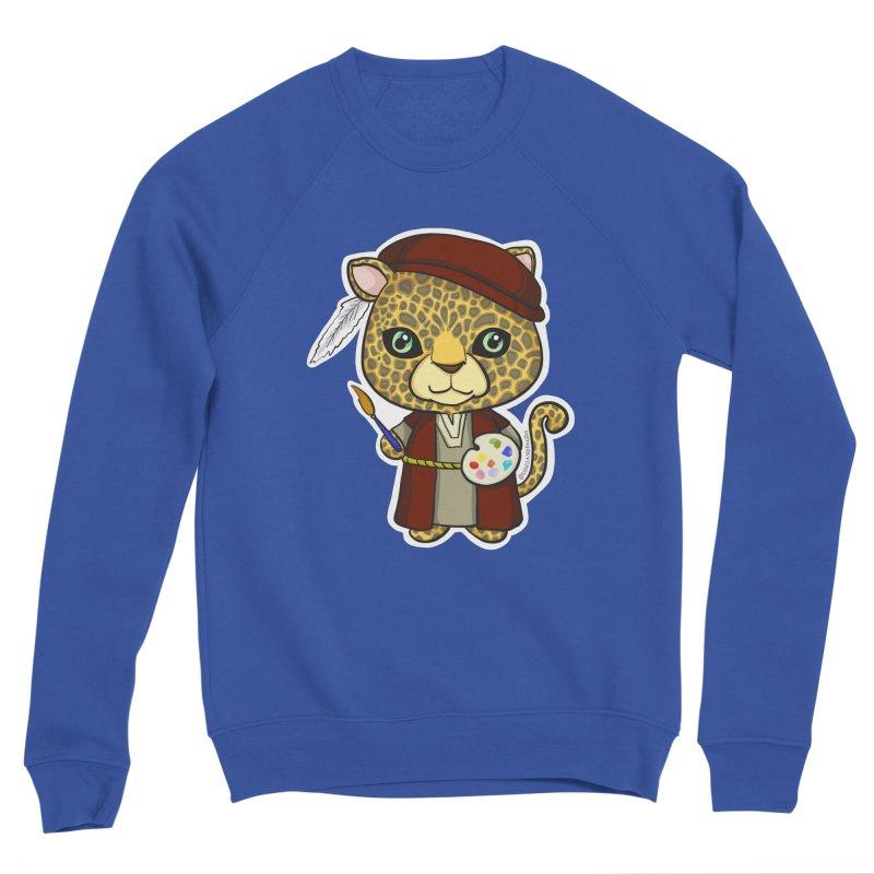Leopardo da Vinci Women's Sweatshirt by Dino & Panda Artist Shop