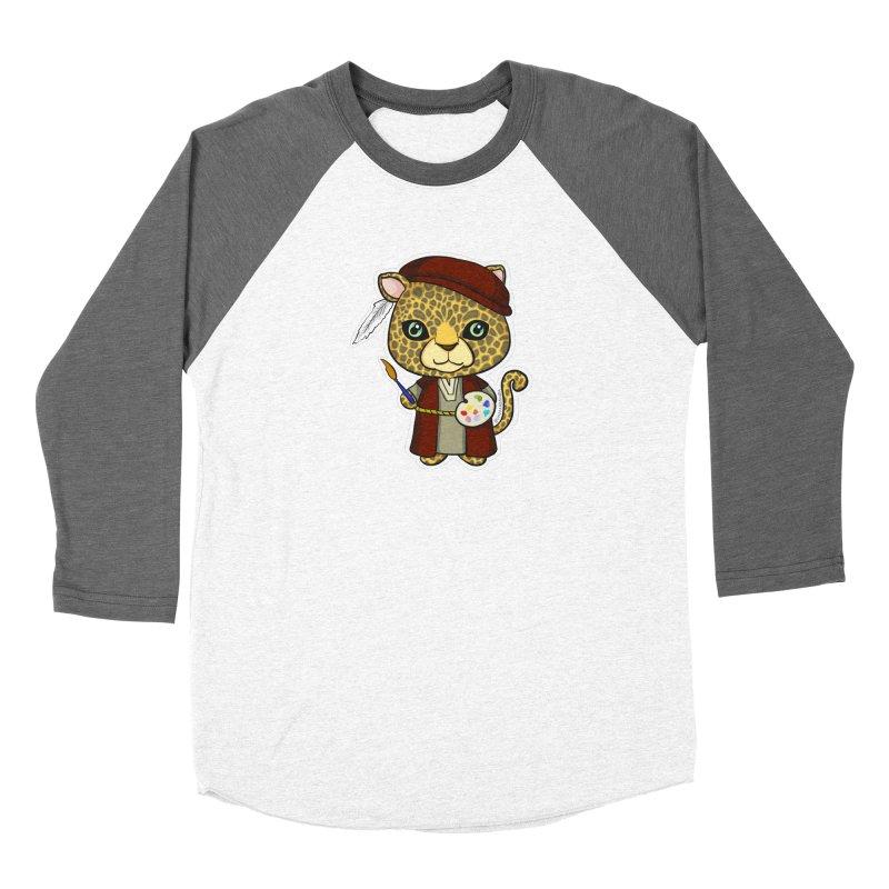 Leopardo da Vinci Women's Longsleeve T-Shirt by Dino & Panda Artist Shop