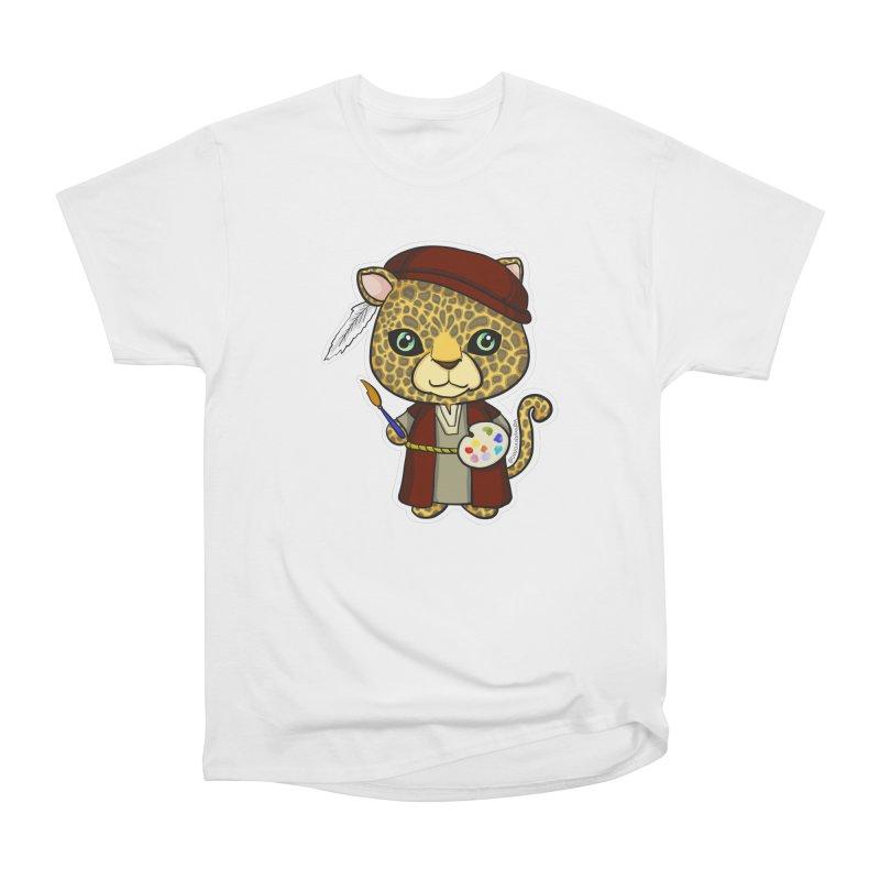 Leopardo da Vinci Men's Heavyweight T-Shirt by Dino & Panda Inc Artist Shop