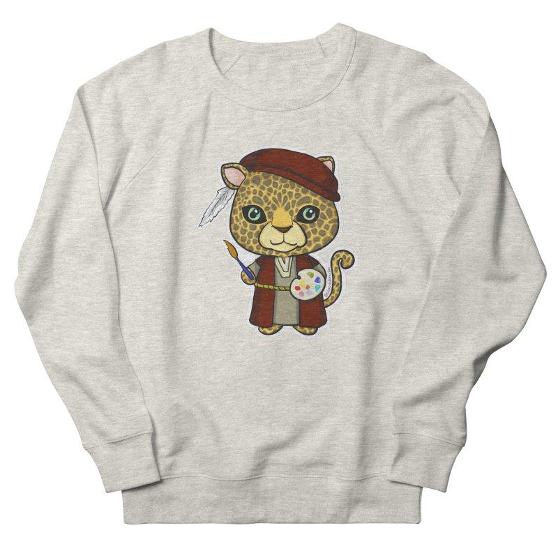 Leopardo da Vinci Men's French Terry Sweatshirt by Dino & Panda Inc Artist Shop