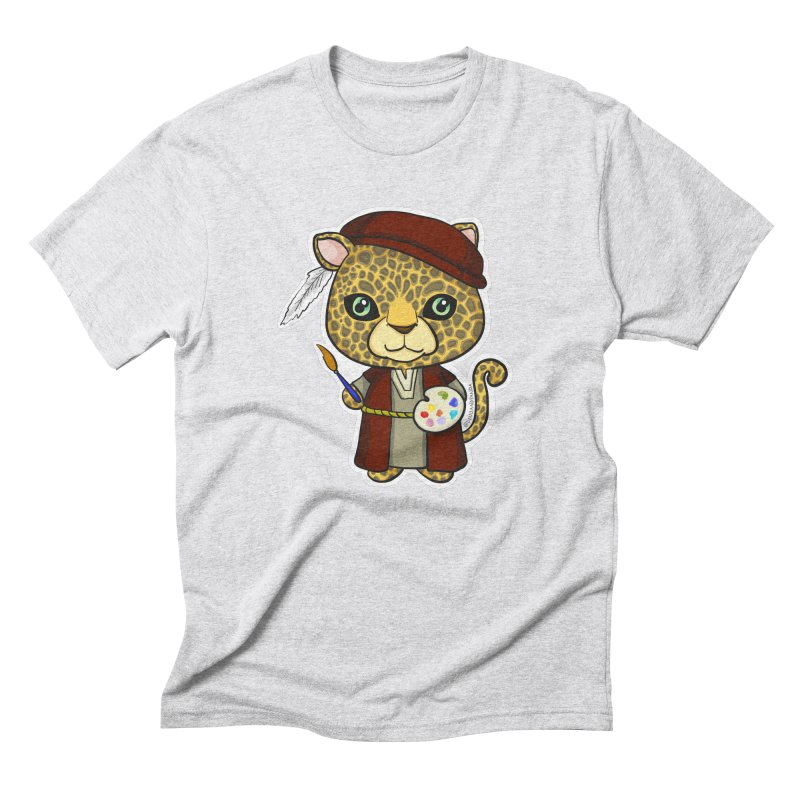 Leopardo da Vinci Men's Triblend T-Shirt by Dino & Panda Inc Artist Shop