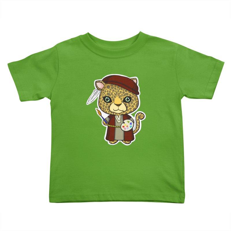 Leopardo da Vinci Kids Toddler T-Shirt by Dino & Panda Inc Artist Shop