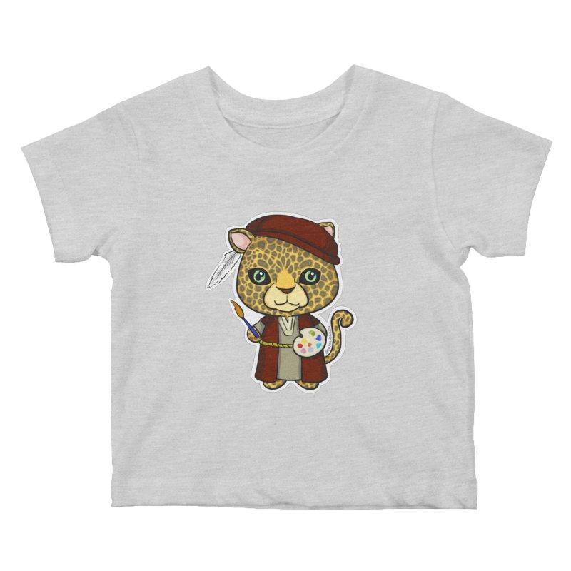 Leopardo da Vinci Kids Baby T-Shirt by Dino & Panda Inc Artist Shop