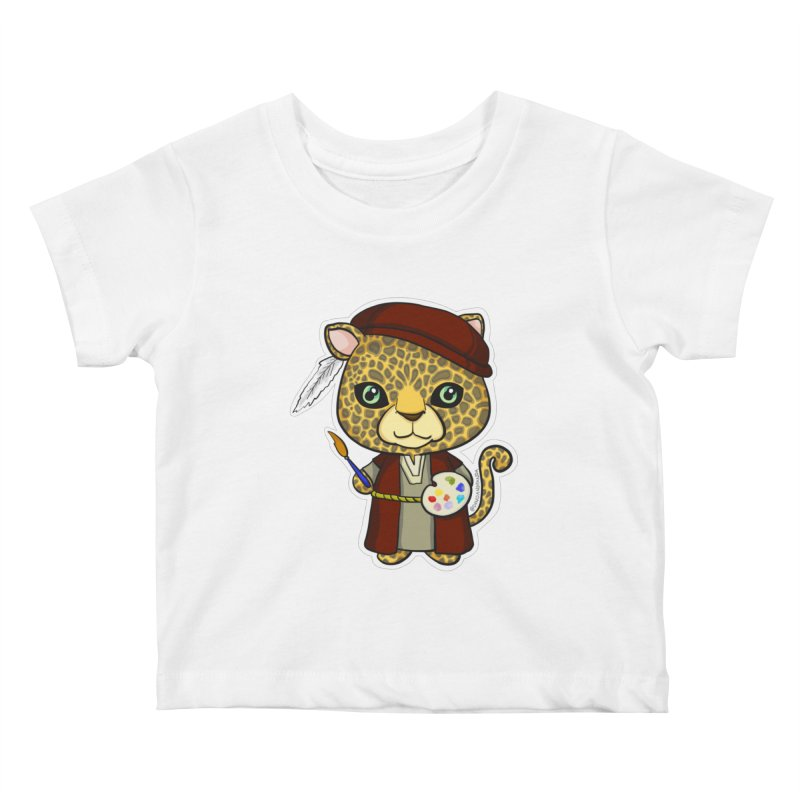 Leopardo da Vinci Kids Baby T-Shirt by Dino & Panda Inc Artist Shop