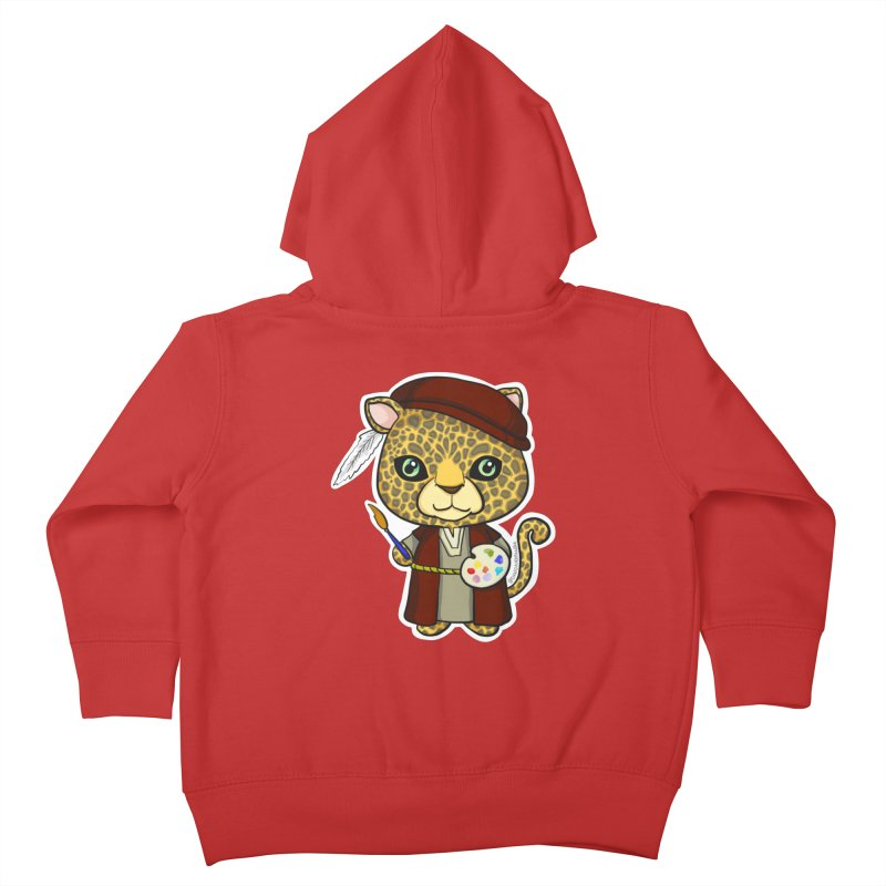 Leopardo da Vinci Kids Toddler Zip-Up Hoody by Dino & Panda Inc Artist Shop