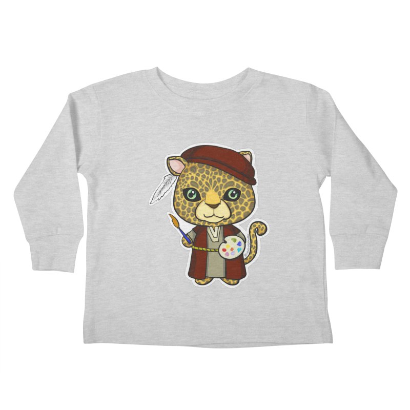Leopardo da Vinci Kids Toddler Longsleeve T-Shirt by Dino & Panda Inc Artist Shop
