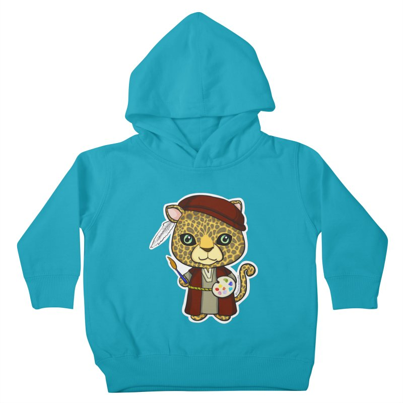 Leopardo da Vinci Kids Toddler Pullover Hoody by Dino & Panda Inc Artist Shop