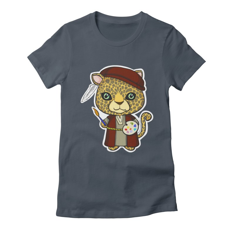 Leopardo da Vinci Women's T-Shirt by Dino & Panda Inc Artist Shop