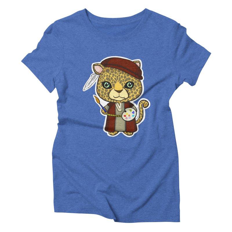 Leopardo da Vinci Women's Triblend T-Shirt by Dino & Panda Inc Artist Shop