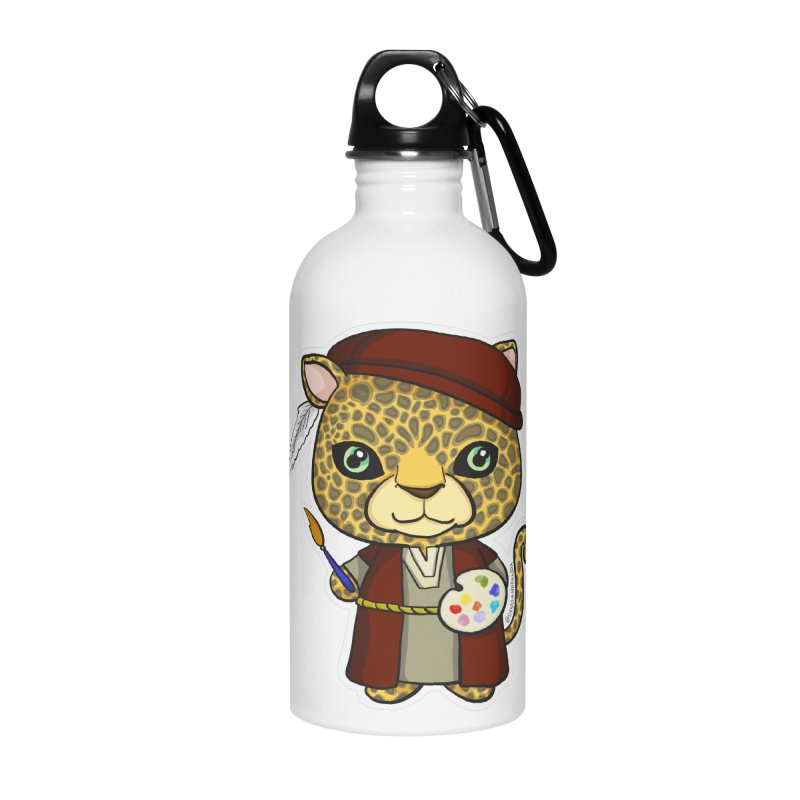 Leopardo da Vinci Accessories Water Bottle by Dino & Panda Inc Artist Shop