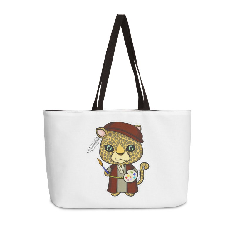 Leopardo da Vinci Accessories Weekender Bag Bag by Dino & Panda Inc Artist Shop