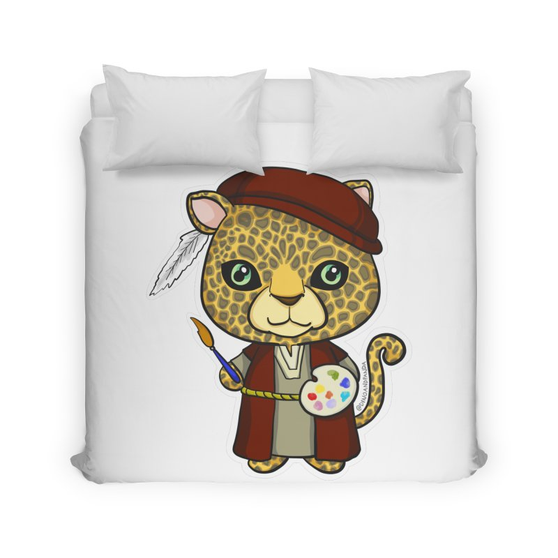 Leopardo da Vinci Home Duvet by Dino & Panda Inc Artist Shop