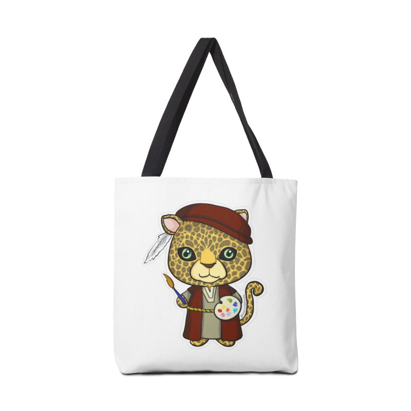 Leopardo da Vinci Accessories Tote Bag Bag by Dino & Panda Inc Artist Shop