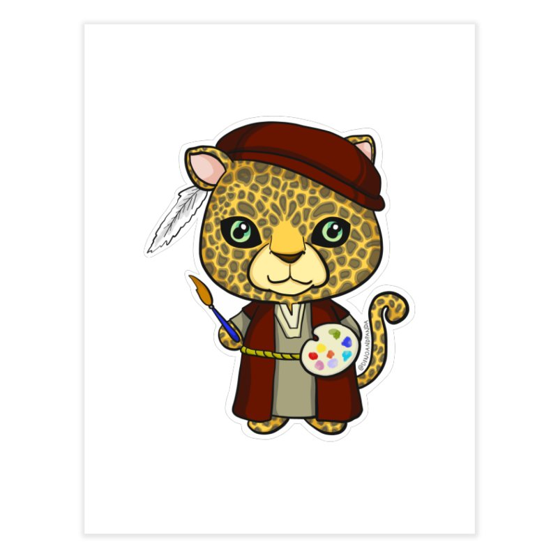 Leopardo da Vinci Home Fine Art Print by Dino & Panda Inc Artist Shop
