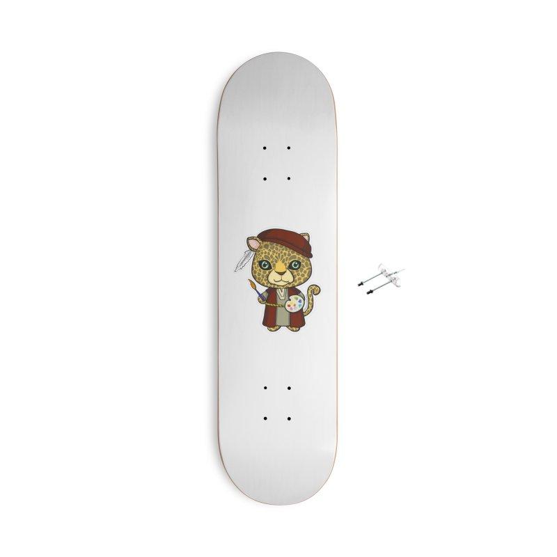 Leopardo da Vinci Accessories With Hanging Hardware Skateboard by Dino & Panda Inc Artist Shop