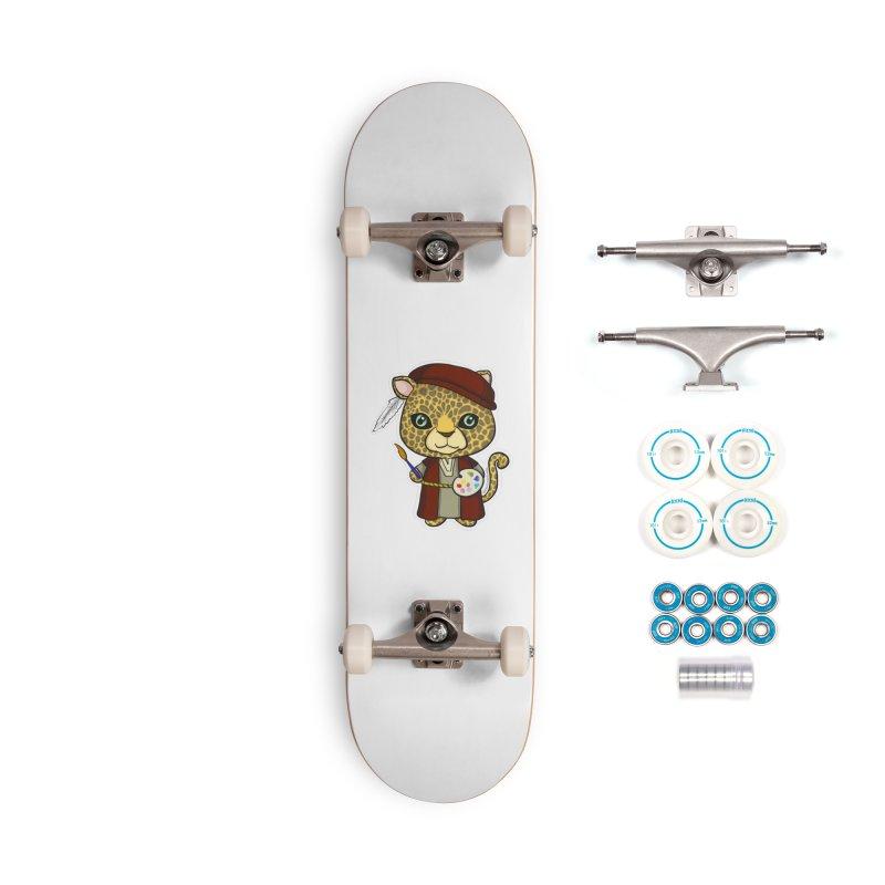 Leopardo da Vinci Accessories Complete - Basic Skateboard by Dino & Panda Inc Artist Shop
