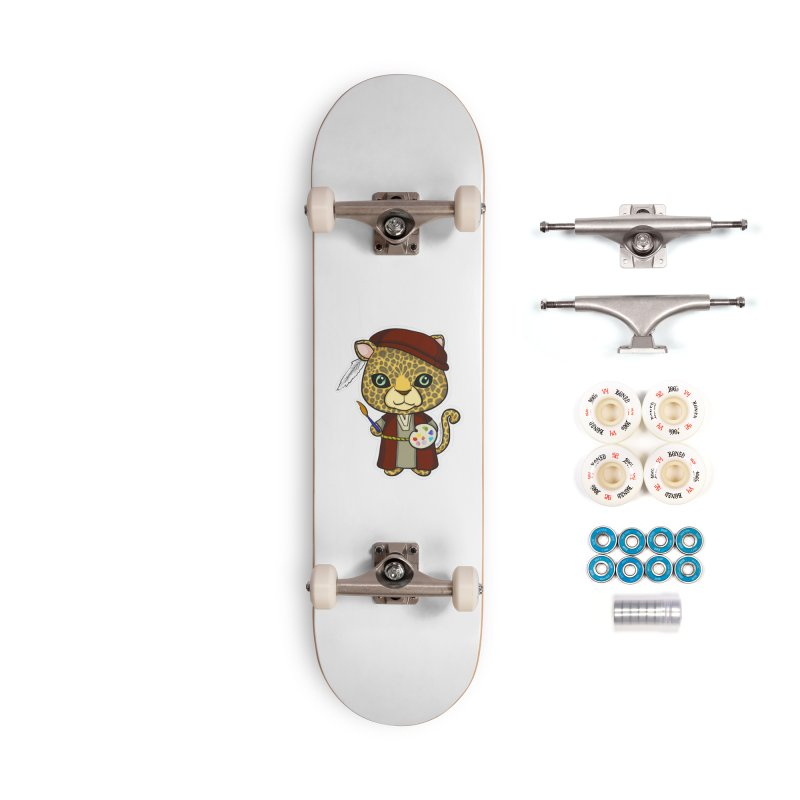 Leopardo da Vinci Accessories Complete - Premium Skateboard by Dino & Panda Inc Artist Shop