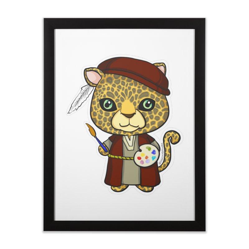 Leopardo da Vinci Home Framed Fine Art Print by Dino & Panda Inc Artist Shop