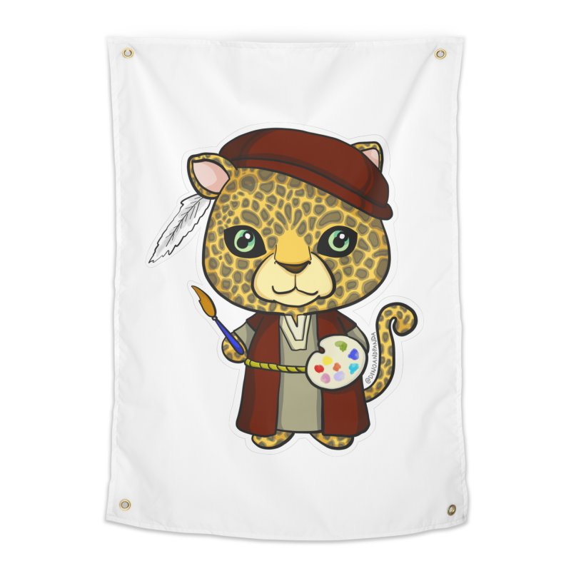 Leopardo da Vinci Home Tapestry by Dino & Panda Inc Artist Shop