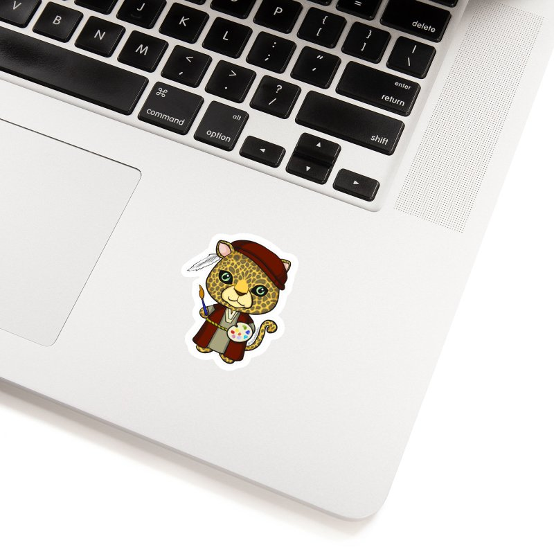 Leopardo da Vinci Accessories Sticker by Dino & Panda Inc Artist Shop