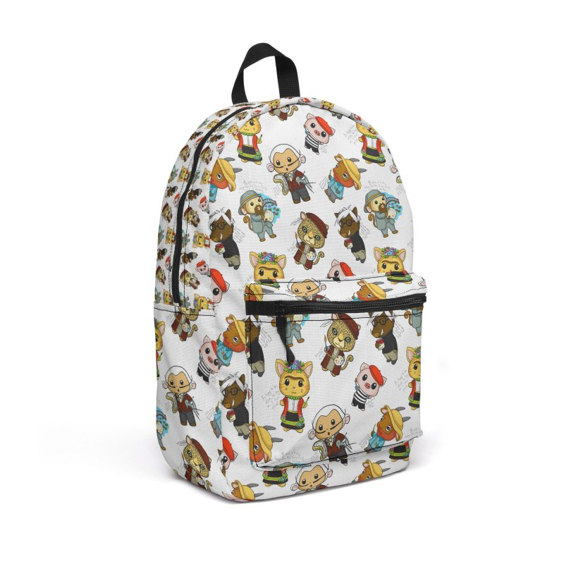 Punny Artist Animals Pattern Accessories Backpack Bag by Dino & Panda Inc Artist Shop