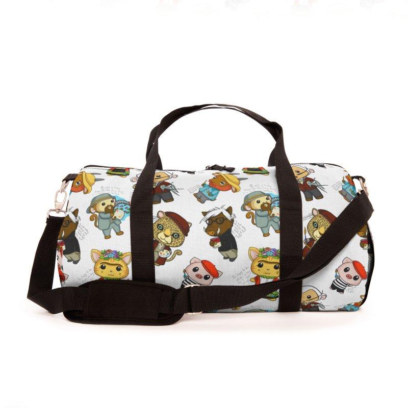 Punny Artist Animals Pattern Accessories Bag by Dino & Panda Artist Shop