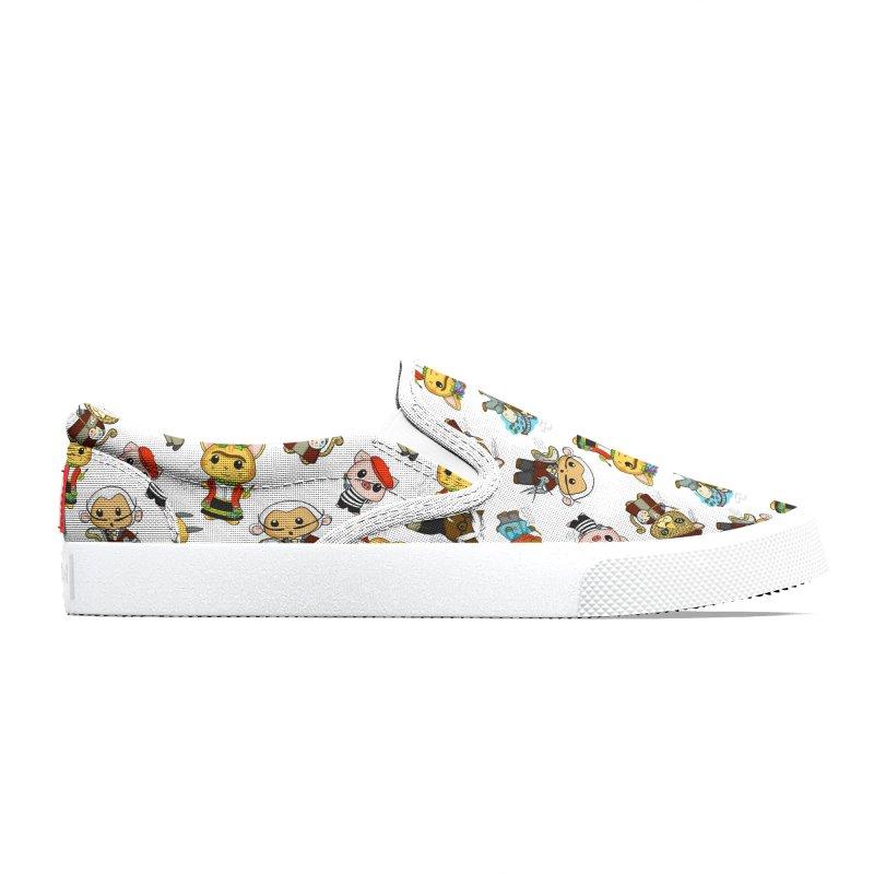 Punny Artist Animals Pattern Men's Shoes by Dino & Panda Artist Shop