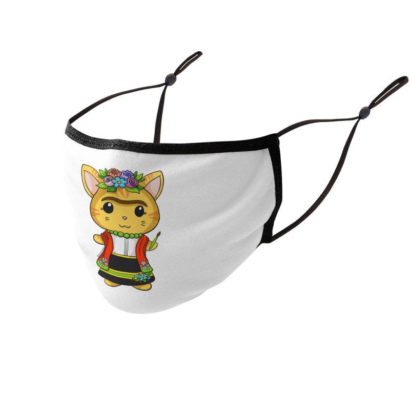 Frida Katlo Accessories Face Mask by Dino & Panda Artist Shop