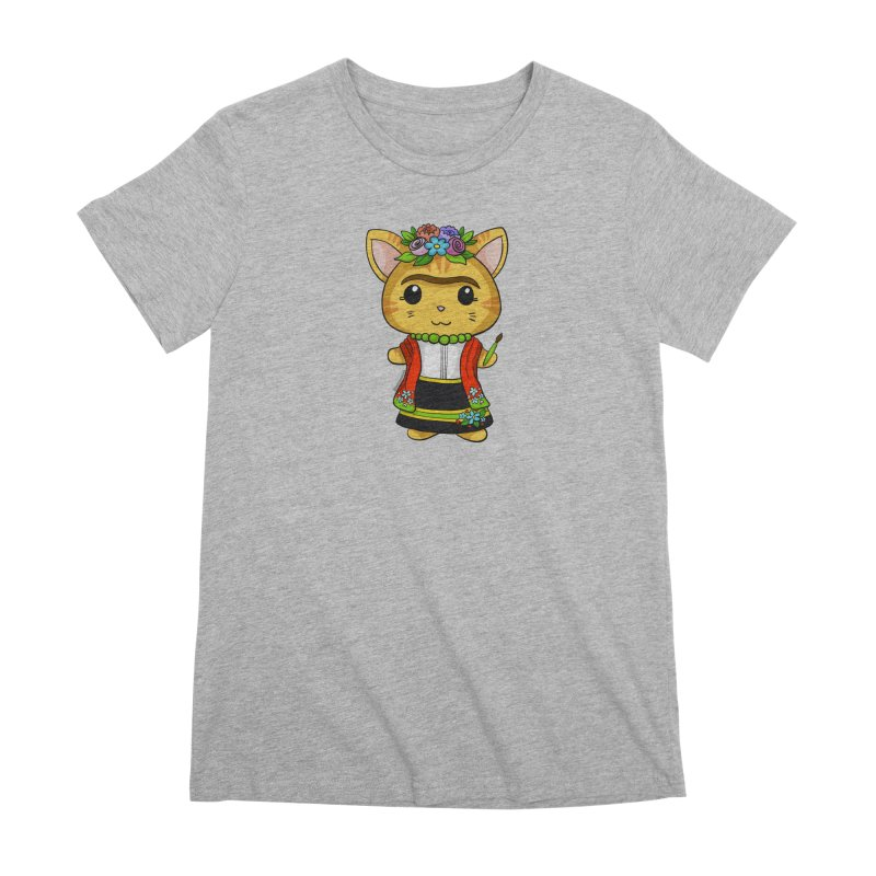 Frida Katlo Women's Premium T-Shirt by Dino & Panda Inc Artist Shop