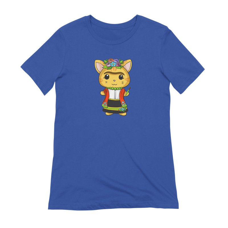 Frida Katlo Women's Extra Soft T-Shirt by Dino & Panda Inc Artist Shop