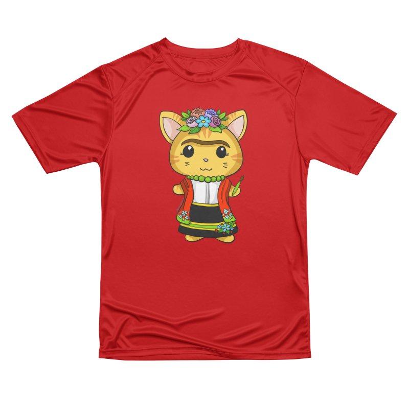 Frida Katlo Women's Performance Unisex T-Shirt by Dino & Panda Inc Artist Shop
