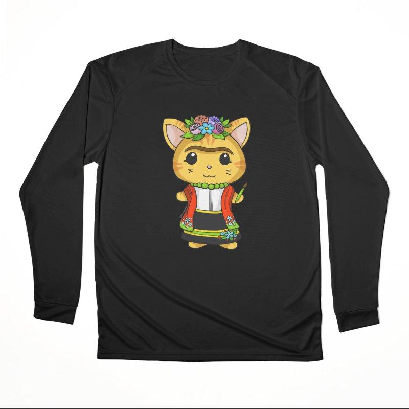 Frida Katlo Women's Performance Unisex Longsleeve T-Shirt by Dino & Panda Inc Artist Shop