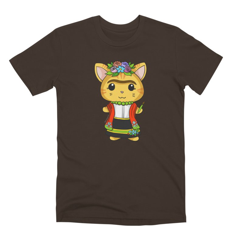 Frida Katlo Men's Premium T-Shirt by Dino & Panda Inc Artist Shop