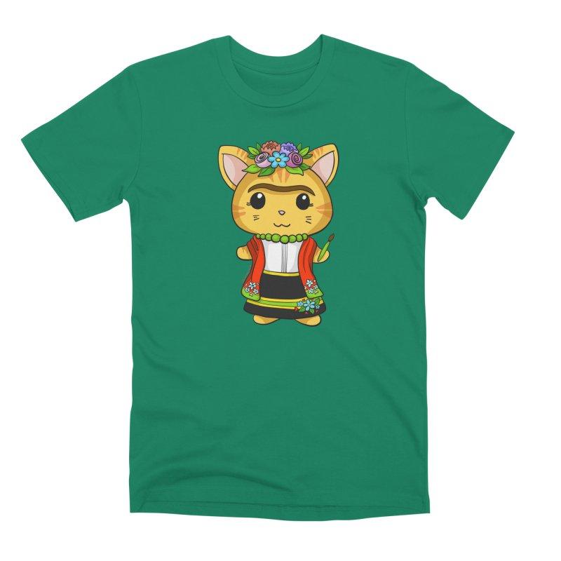 Frida Katlo Men's Premium T-Shirt by Dino & Panda Inc Artist Shop