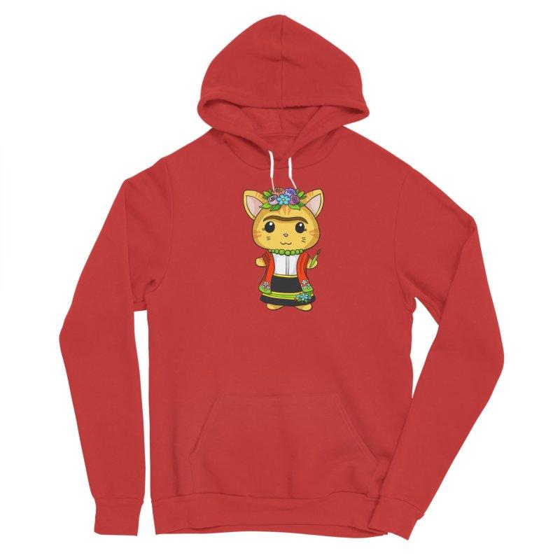 Frida Katlo Men's Pullover Hoody by Dino & Panda Artist Shop