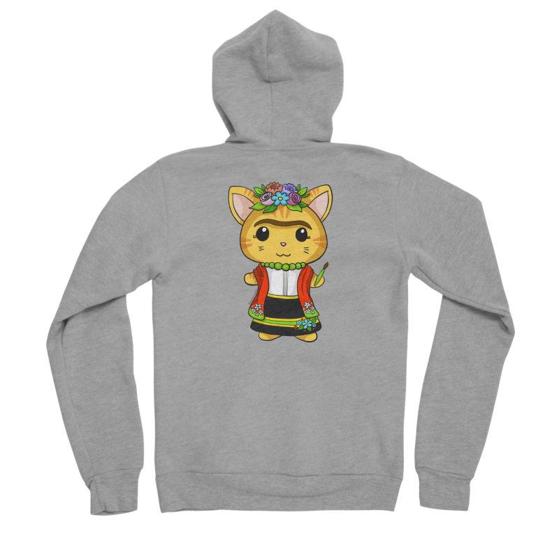 Frida Katlo Men's Sponge Fleece Zip-Up Hoody by Dino & Panda Inc Artist Shop