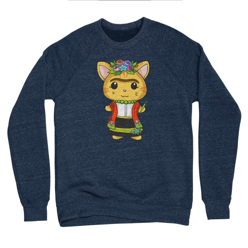 Frida Katlo Women's Sponge Fleece Sweatshirt by Dino & Panda Inc Artist Shop