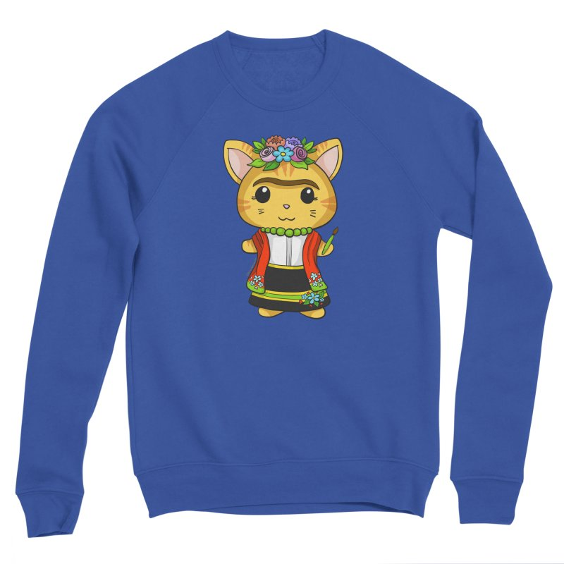 Frida Katlo Men's Sponge Fleece Sweatshirt by Dino & Panda Inc Artist Shop