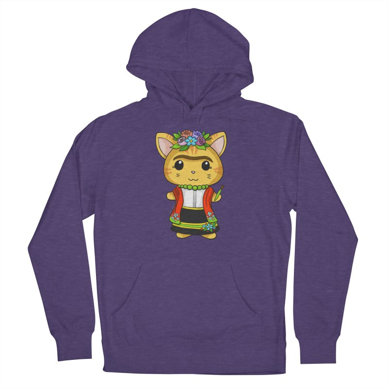 Frida Katlo Women's French Terry Pullover Hoody by Dino & Panda Inc Artist Shop