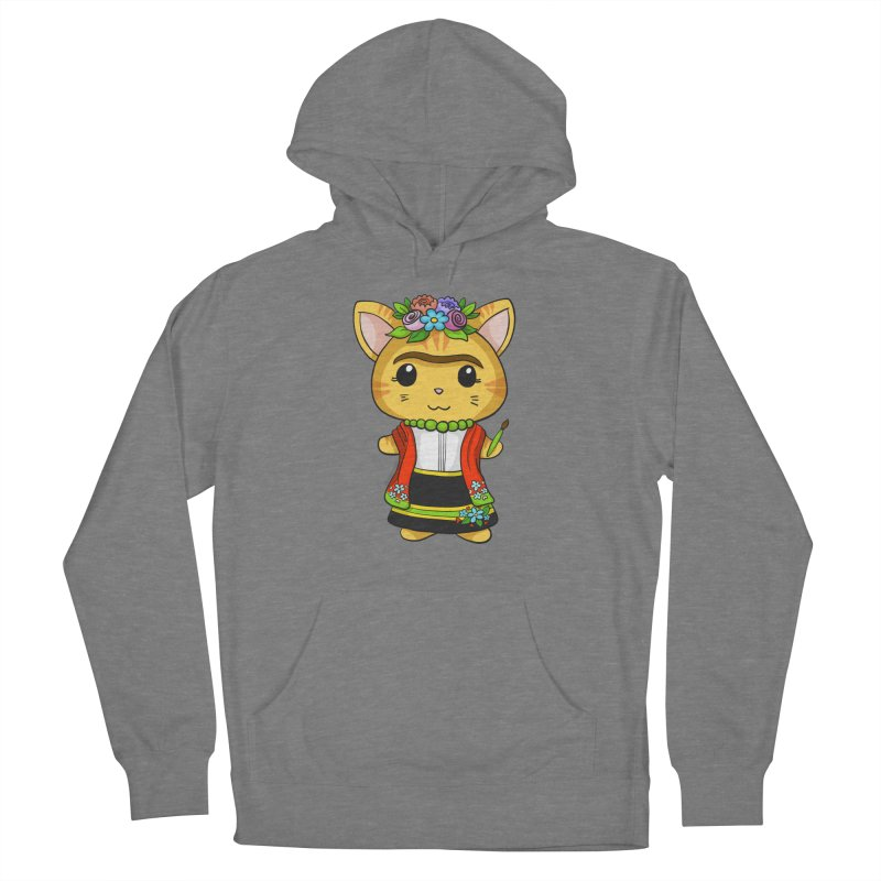 Frida Katlo Men's French Terry Pullover Hoody by Dino & Panda Inc Artist Shop