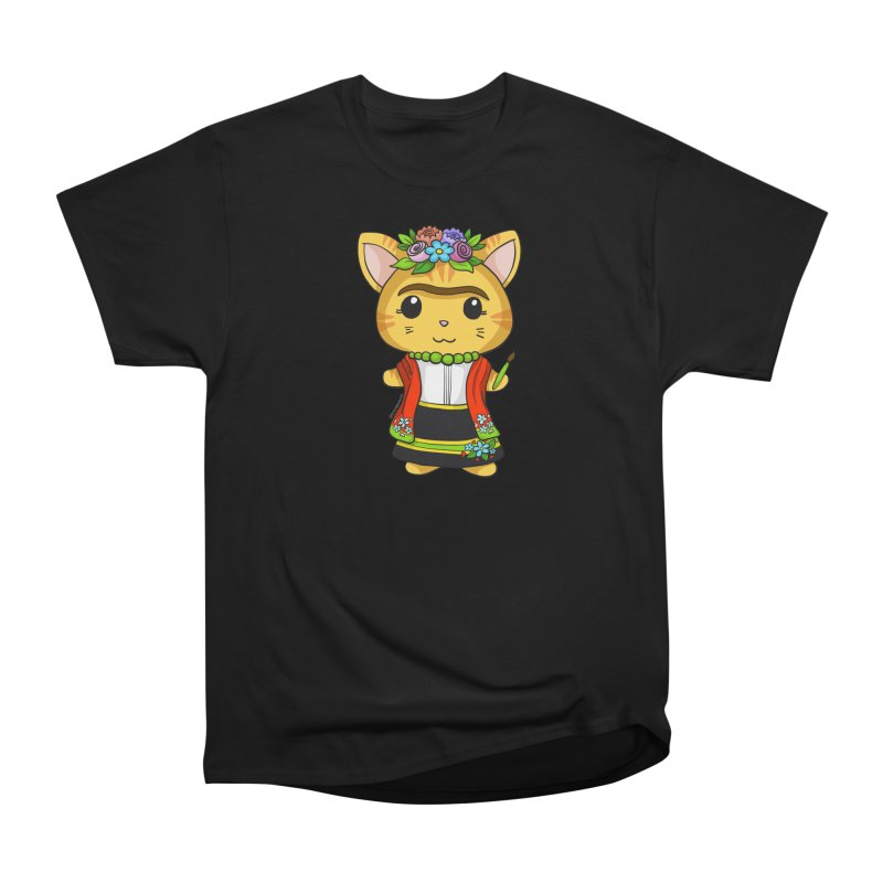 Frida Katlo Women's Heavyweight Unisex T-Shirt by Dino & Panda Inc Artist Shop